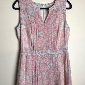 Halogen pleated chiffon dress size 10